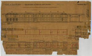 Enlargement of Preston Station- plans and elevations of station buildings on new