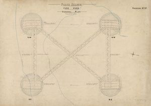 Forth Bridge. Fife Pier General Plan
