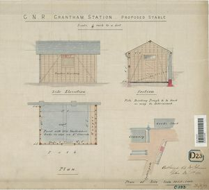 G.N.R. Grantham Station Proposed Stable [1883]