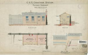 G.N.R. Grantham Station Proposed Workshop