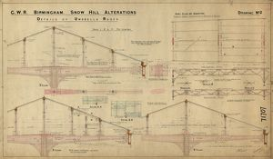 GWR Birmingham Snow Hill - station alterations dwg no.2 (1908)