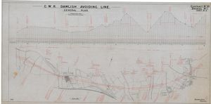 G.W.R Dawlish Avoiding Line General Plan - Contract No.10 Drawing No. 1 Sheet 2 [1930s]