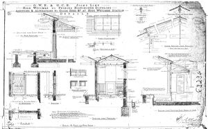 G.W.R & G.C.R - Additions & Alterations to Good Shed etc at High Wycombe Station [1905]