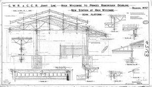 G.W.R & G.C.R Joint Line - New Station at High Wycombe Down Platform [1902]