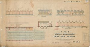 GWR General Arrangement Engine Shed Salisbury [1897]