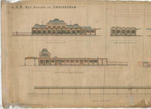 G.W.R. New Station at Cheltenham - Station Building [1892]