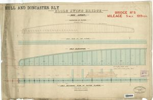 Hull And Doncaster Railway - Goole Swing Bridge (Bridge No 5, 5 Miles 199 Yards) [1879]
