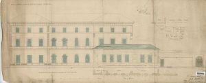 Hull Railway Station Hotel - Elevation of North Side of Hotel [1847]