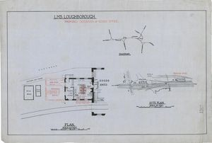 LMS Loughborough Proposed Extension of Goods Office [c1930s]