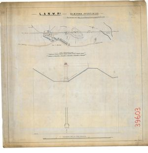 L&NW RY Blaenau Ffestiniog - Plan showing shaft in Ffestiniog Tunnel including cross