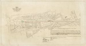 London Bridge Station. Plan of the London Bridge Station and part of the Greenwich