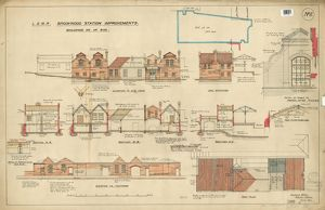 L&SWR Brookwood Station Improvements. Up Side Buildings [1903]
