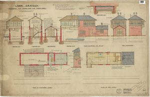 LSWR Grateley Signal Box - Proposed New Signal Box and Power House [1901]