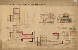 L.S.W.R Queen's Road Station Improvements Drawing no.2 [1908]