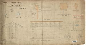 L&YR Low Moor Station - Details for New Platform Roof [1874]