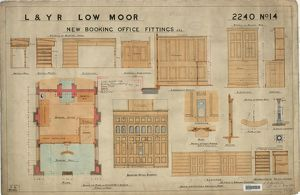 L&YR Low Moor Station - New Booking Office Fittings [1899]
