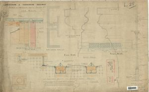 L&YR Low Moor Station Subway - Details for Underground Passage Columns [1874]