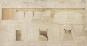 Maidenhead Bridge. Great Western Railway. Drawing 2. Longitudinal Section and Sections