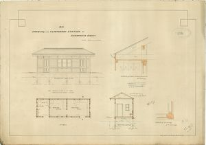 M.R. Drawings for Temporary Sttaion at Sharpness Docks [1876]