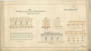 M.R. Proposed Engine Shed Sharpness Docks [1877]