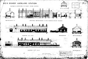 N.E.R Bishop Auckland Station Addtions and Alterations [1889]