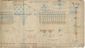 N.E.R Central Station Newcastle - Details of Wind Screen East Roof [1892]