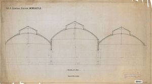 N.E.R Central station Newcastle - Section of Roof [1892]