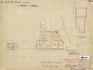 N.E.R Corbridge Station - Alteration and Addition Ground Plan [N.D]