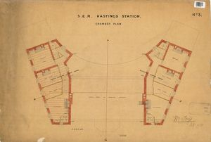 S.E.R Hastings Station - Chamber Plan [1850]