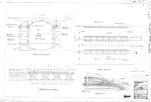 Sheaf Culvert Work Details - Plans, sections and elevation showing arches [1982]