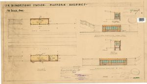 S.R. Bishopstone Station - Platform Buildings - 1/8 scale drawing [1938]