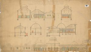 S.R. Eastbourne Station Reconstruction - Sections and Elevations showing Alterations