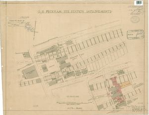 S.R Peckham Rye Station Improvements. Site Plan [1935]