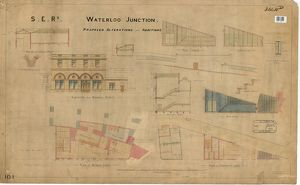S.R. Railway Waterloo Junction - Propsed Alterations and Additions including Elevations
