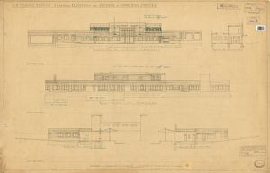 SR Woking. Elevations & Sections for Down Side Offices [1937]