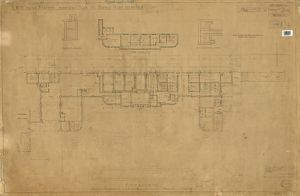 S.R. Woking Station. Plan of Down Side Offices [1937]