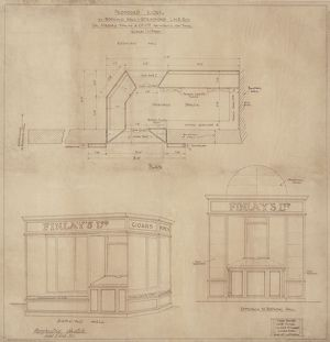 Stratford Station. Proposed Kiosk in Booking Hall Stratford LNE Rly for Messre Finlay & Co