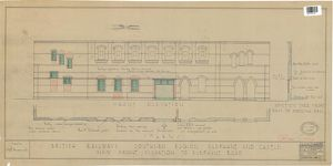 British Railways Southern Region - Elephant and Castle - New Front Elevation to Elephant