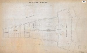 Hastings Station - Plan of Station [1912]
