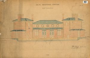S.E.R Hastings Station - Drawing no. 5 East Elevation [1850]