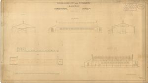 Wilts. Somerset and Weymouth Railway - Trowbridge Station Goods Shed [1848]