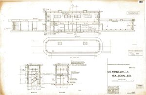 Wimbledon 'A' New Signal Box - plan and sections [1948]