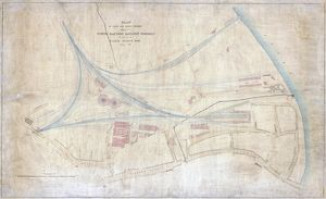 York. North Eastern Railway. Plan York and railway environment. February 1856