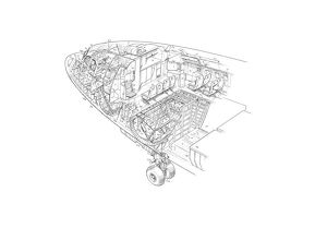 A300 B1 Nose Section Cutaway Drawing