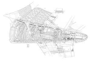 A300 B1 Tail Detail Cutaway Drawing