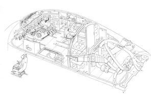 Armstrong Whitworth 650 argosy - cockpit & ecs deta Cutaway Drawing