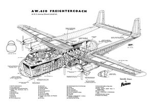 Armstrong Whitworth AW650 Argosy Cutaway Drawing