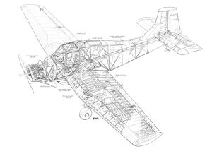 Auster Agricola Cutaway Drawing