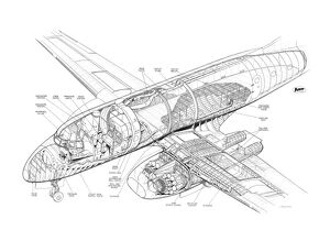 Avro 706 Ashton Cutaway Drawing