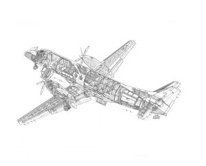 BAe Jetstream 41 Cutaway Drawing